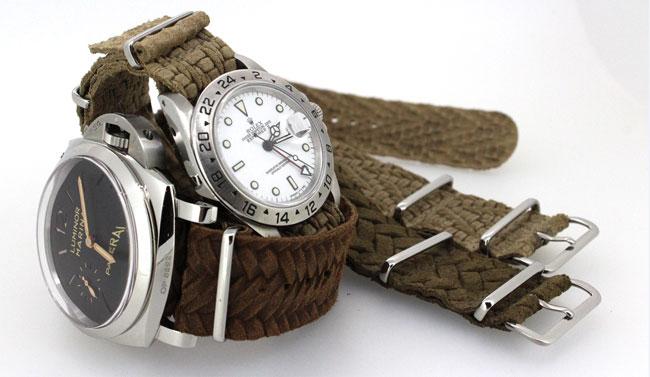 ABP : cuirs imprimés façon tressé pour bracelets Nato