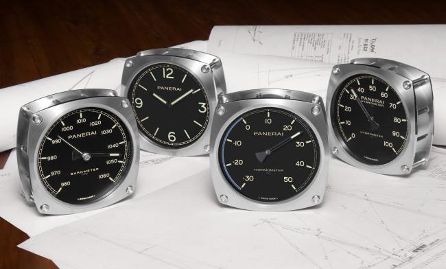 Officine Panerai : horloge murale, hygromètre, thermomètre et baromètre