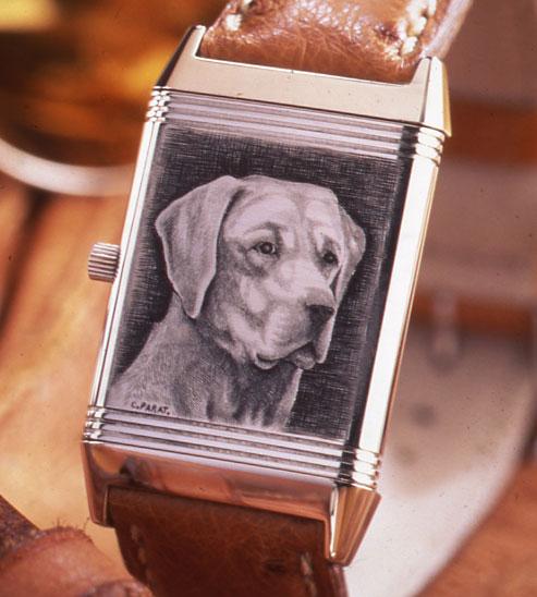 Jaeger-LeCoultre : expo de montres gravées au Bon Marché à Paris