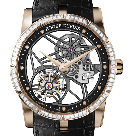 Excalibur 42 Tourbillon Squelette or rose et diamants