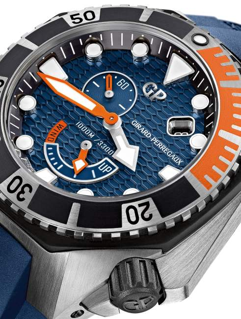 Girard-Perregaux Sea Hawk bleu cobalt et orange