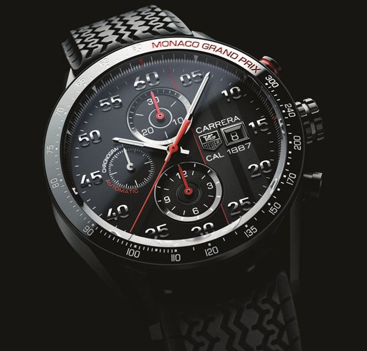 tag heuer carrera 43mm calibre 1887 chronograph. Black Bedroom Furniture Sets. Home Design Ideas