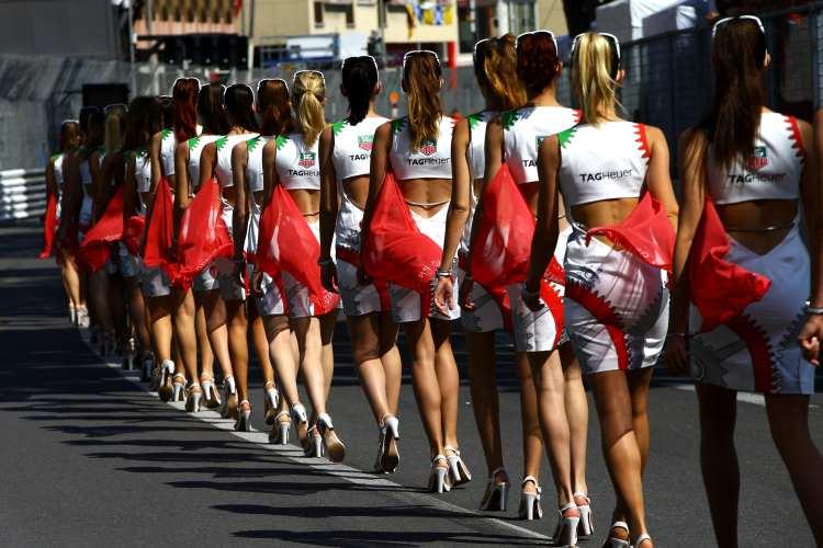 les grid girls de TAG Heuer