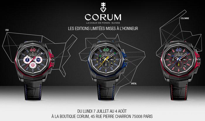 corum la collection americas d couvrir dans la boutique exclusive parisienne. Black Bedroom Furniture Sets. Home Design Ideas
