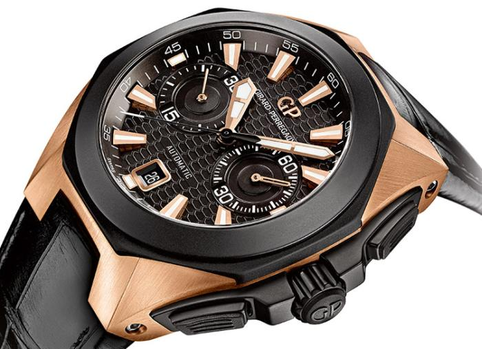 Girard-Perregaux Chrono Hawk or rose