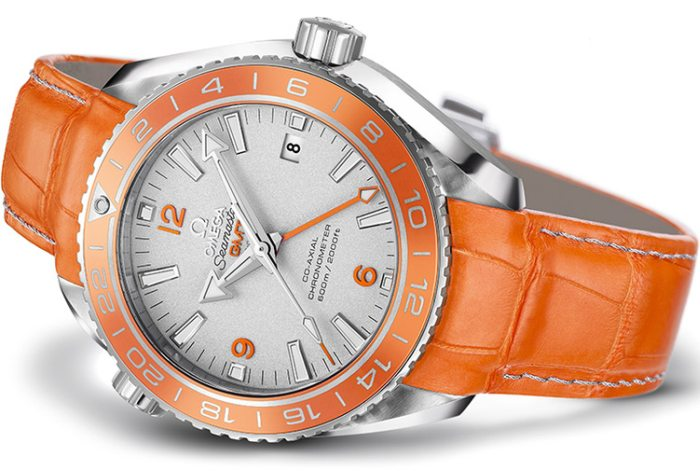 Omega Seamaster Planet Ocean Orange Ceramic en platine