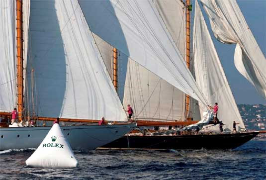 Trophée Rolex : les yachts d'époque à gréement auriques à l'honneur
