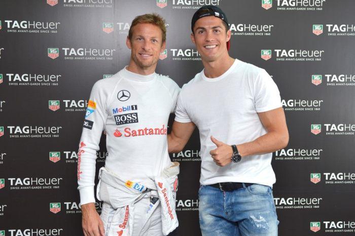 Jenson Button et Cristiano Ronaldo