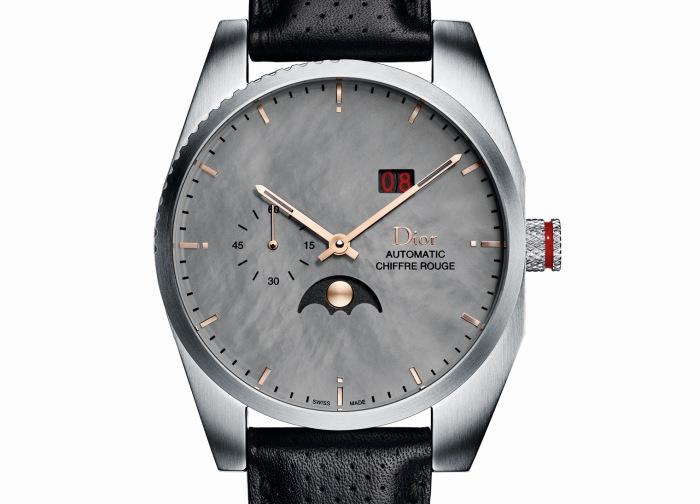 Dior Chiffre Rouge C03 : phase de lune, grande date, petite seconde et cadran de nacre grise
