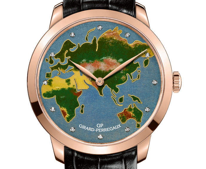 Girard-Perregaux 1966 cadrans émail : Pur sang, The Map et The World
