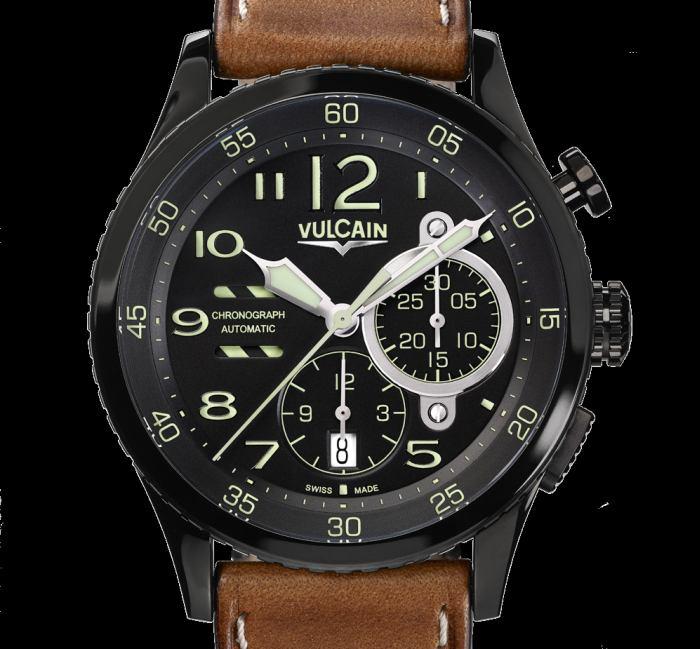 Vulcain Aviator Instrument Chronograph : série limitée de 100 pièces en DLC noir