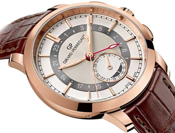 Girard-Perregaux 1966 Dual Time or rose