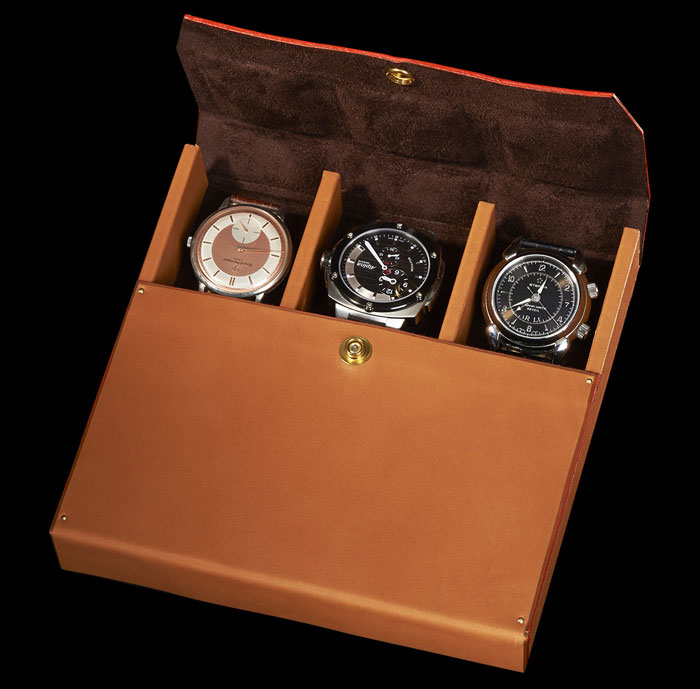 Coffret de rangement de trois montres Maison Ephtée