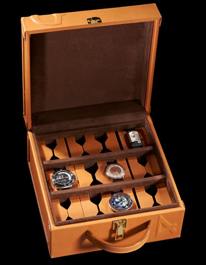 Coffre de rangement 12 montres, Maison Ephtée