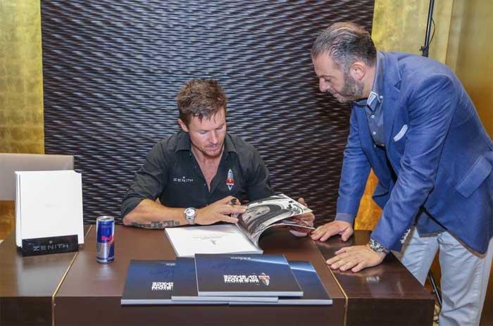 Felix Baumgartner à Dubai avec Zenith