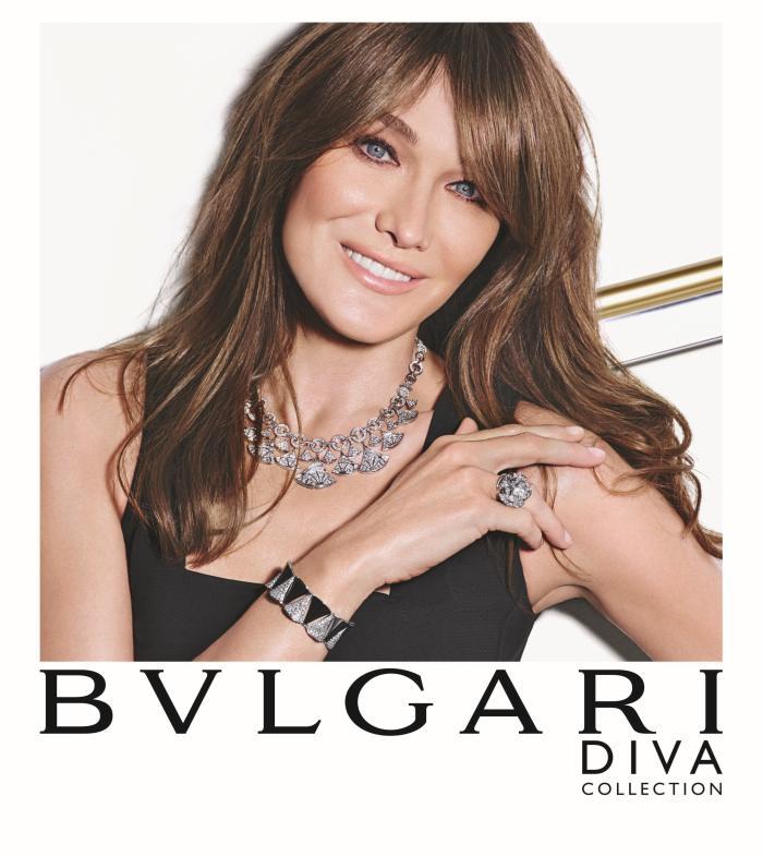 Bulgari : Carla Bruni reste l'égérie du joaillier italien