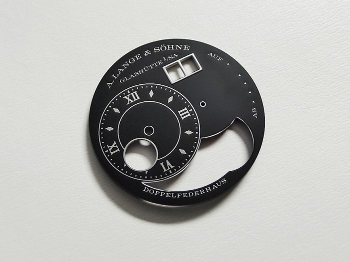 Lange & Söhne : de l'art de l'émaillage