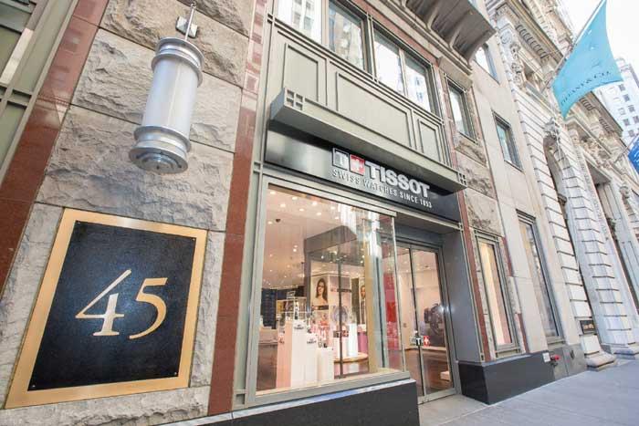 Tissot : ouverture d'une boutique à New York, sur Wall Street