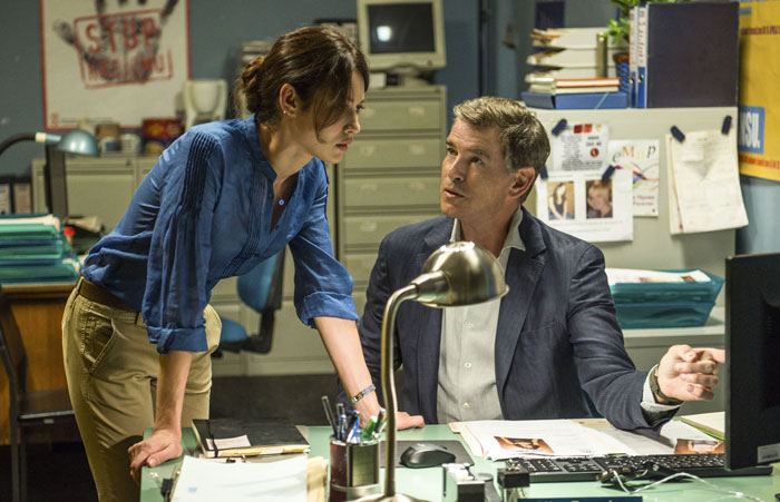 The November Man, DR, Olga Kurylenko et Pierce Brosnan