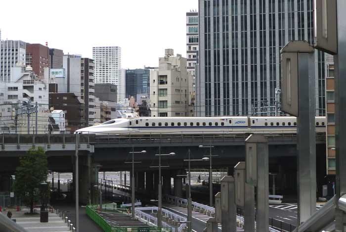 Shinkanzen au départ de Tokyo