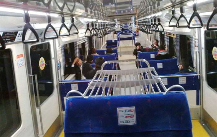 Monorail en direction de l'aéroport d'Haneda (Tokyo)