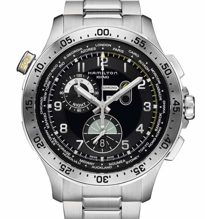 ​Hamilton Chrono Worldtimer : chrono et heure universelle