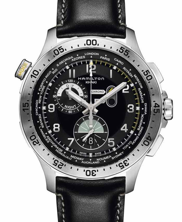 ​Hamilton Chrono Worldtimer : chrono et heure universelle