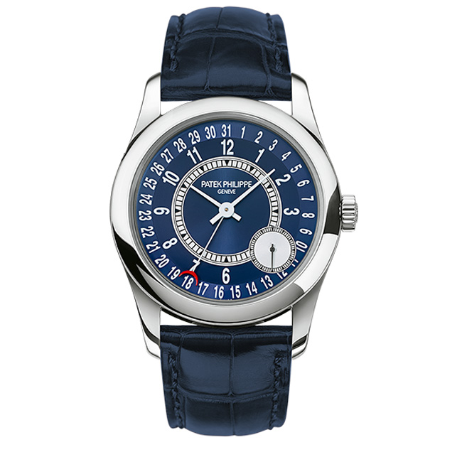 Calatrava 6000G white gold blue dial