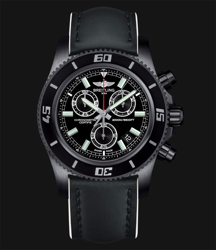 ​Breitling SuperOcean chronograph M2000 Blacksteel
