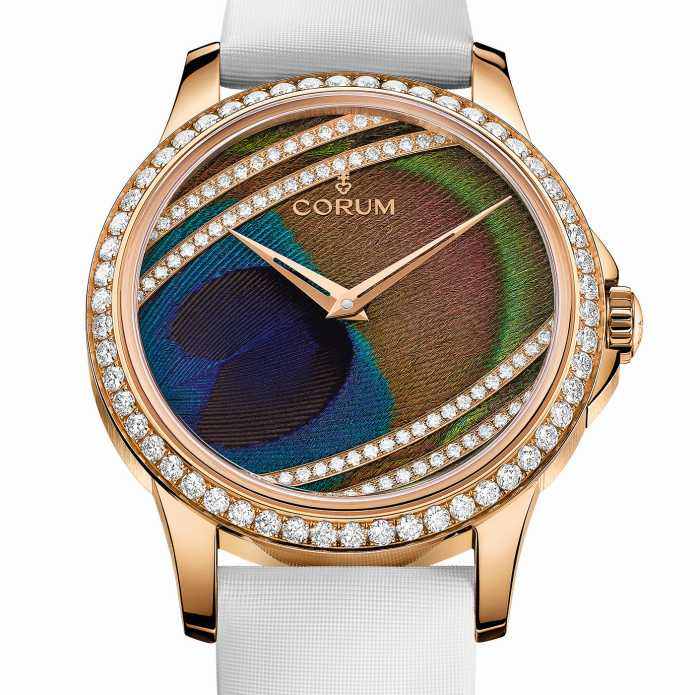 Corum Feather Watch : paon et geai bleu