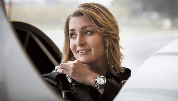Aude Lemordant pour Breitling