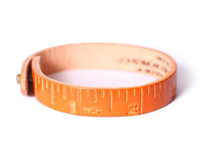 bracelet One of One Leather Ruler