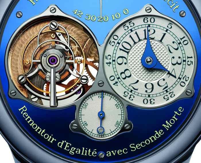 Tourbillon Souverain Bleu F.P. Journe Only Watch : pièce unique en tantale