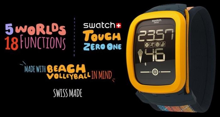 Swatch Touch Zero One : première Swatch autonome...