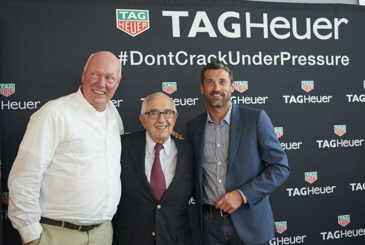 TAG Heuer : Patrick Dempsey en visite à La Chaux de Fonds