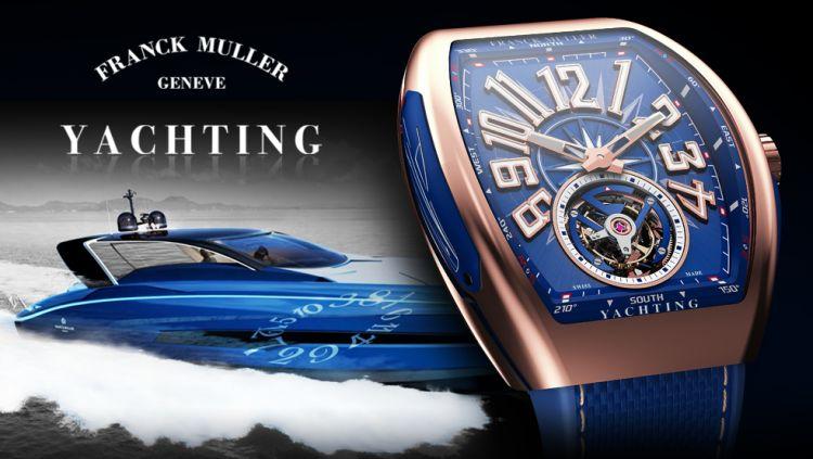 Franck Muller 55 : un yacht et une collection de montres...
