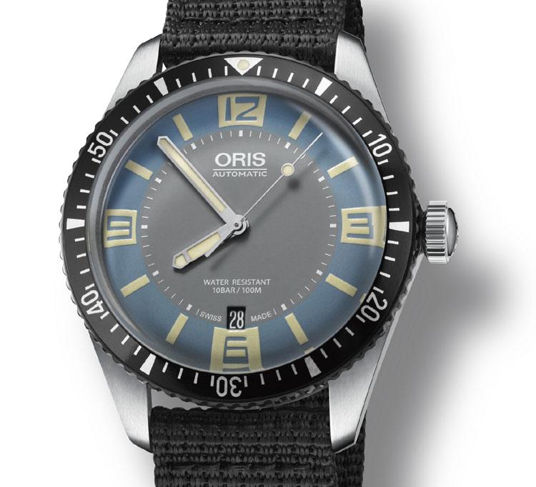 Oris Diver Sixty-Five : version bleue