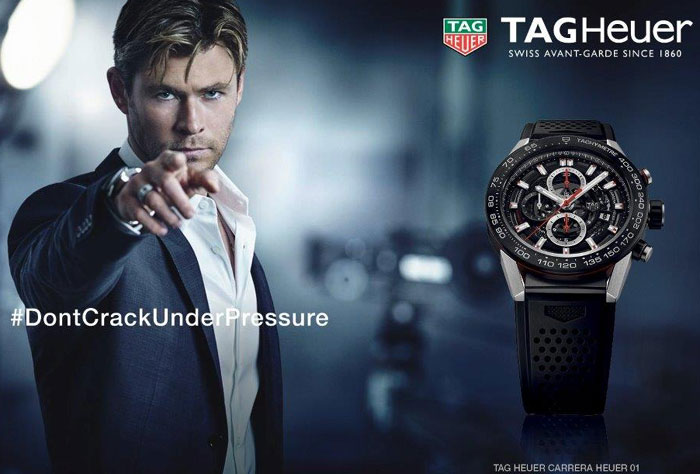 Chris Hemsworth pour TAG Heuer
