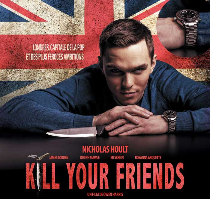 Kill your friends : Nicholas Hoult porte une Omega Seamaster