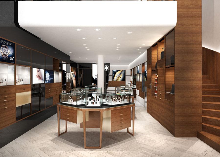 montblanc nouveau concept de boutique paris. Black Bedroom Furniture Sets. Home Design Ideas