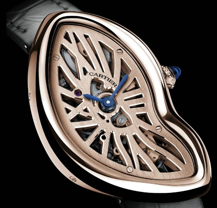 Cartier Crash squelette : 67 exemplaires en or rose