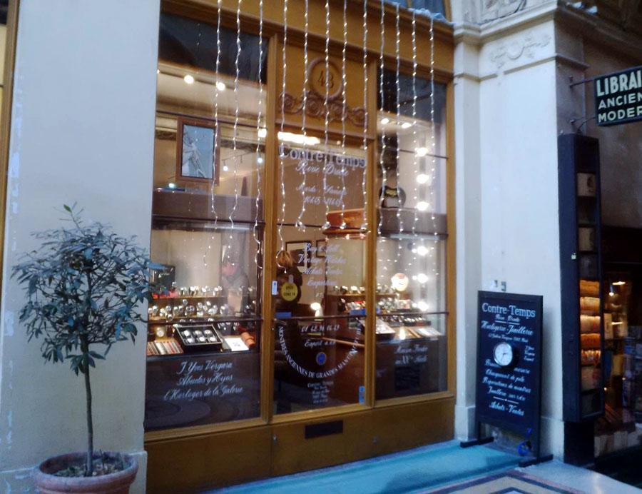 Contre-Temps s'installe Galerie Vivienne à Paris