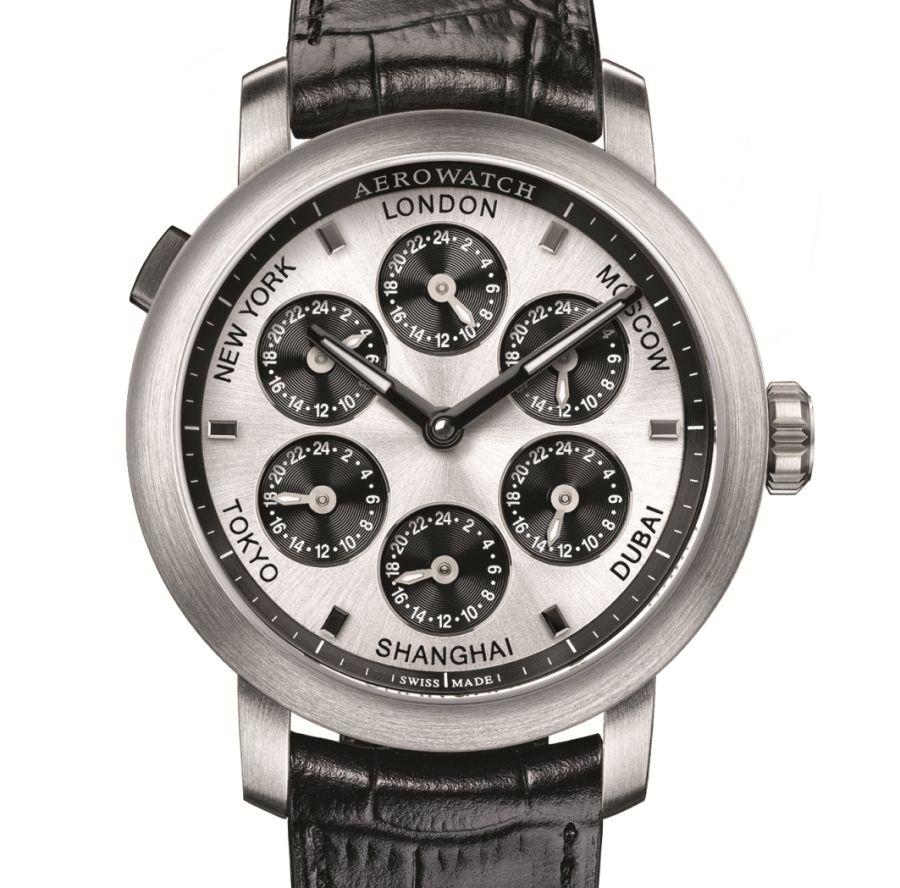 Aerowatch Renaissance 7 Times Zones : une montre, sept fuseaux horaires