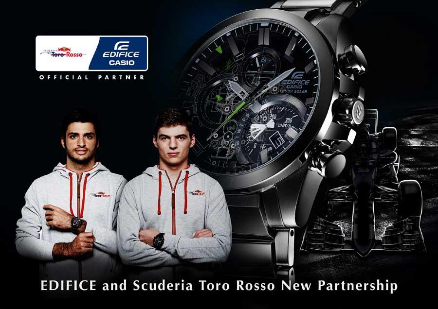 Formule 1 : Casio Edifice partenaire de Toro Rosso