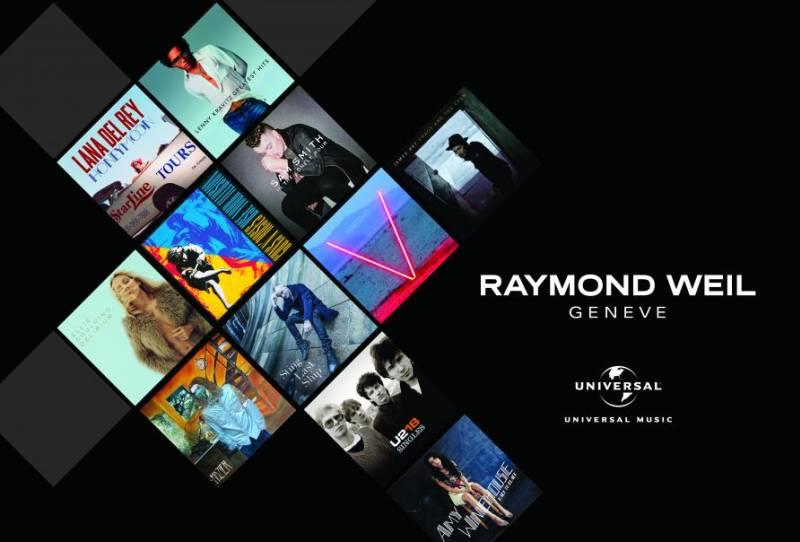 Raymond Weil partenaire d'Universal Music