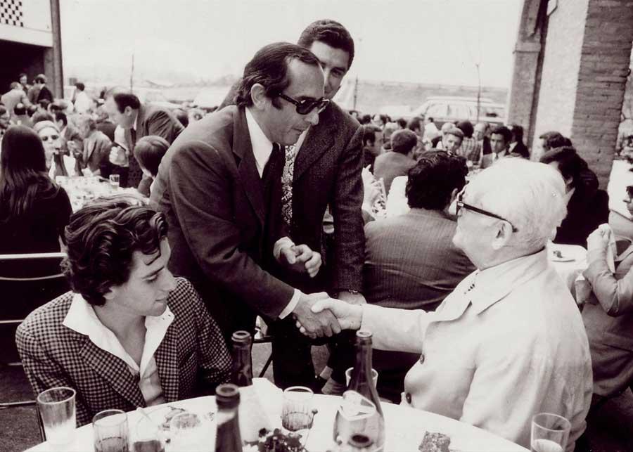 Jack Heuer et Enzo Ferrari