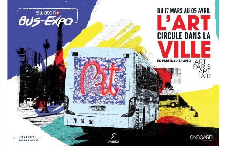 Swatch Bus Expo : expo itinérante dans les rues de Paris