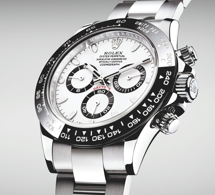 rolex cosmograph daytona acier avec lunette cerachrom enfin. Black Bedroom Furniture Sets. Home Design Ideas