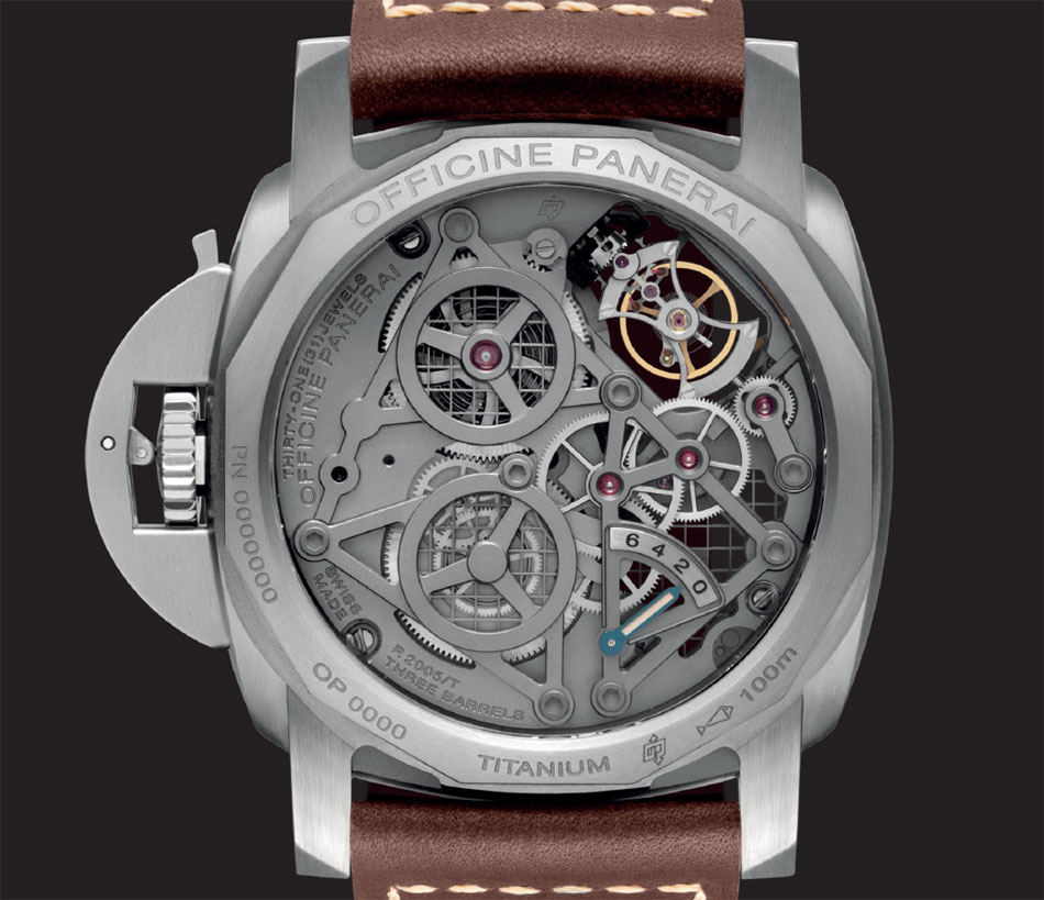 Panerai Luminor Lo Scienziato Tourbillon GMT Titane : 150 ex