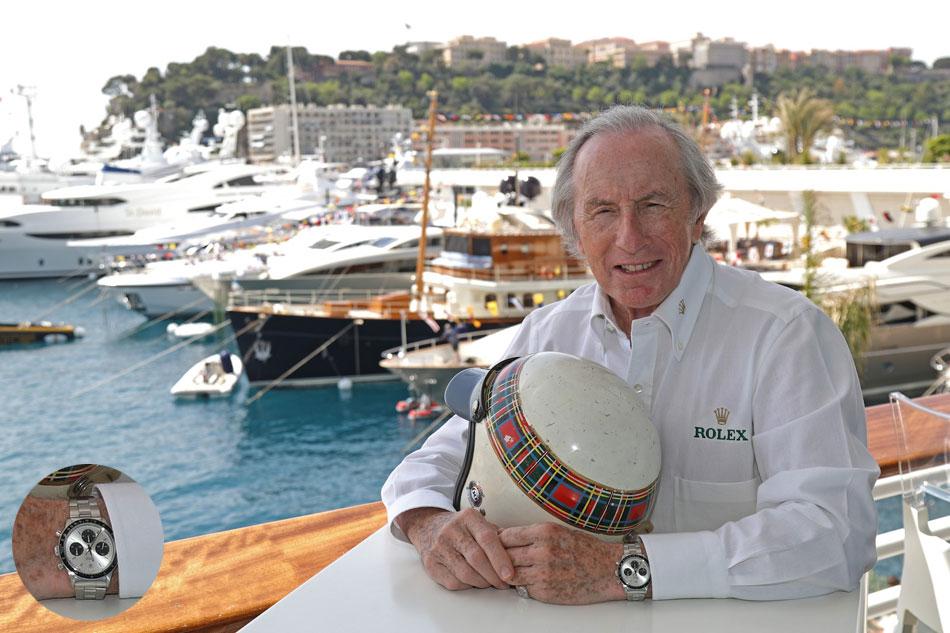 Sir Jackie Stewart pour Rolex